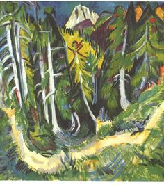 Forest Gorge by @artistkirchner #expressionism