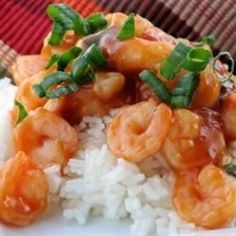 Great shrimp recipe with rice noodles or rice