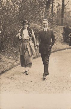 Late Crown Prince Wilhelm Crown Princess Cecilie on A Walk in Potsdam RARE P | eBay