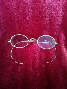 634371716e5 Antique Eyeglasses Silver Plated by AlwaysPlanBVintage on Etsy Round Glass