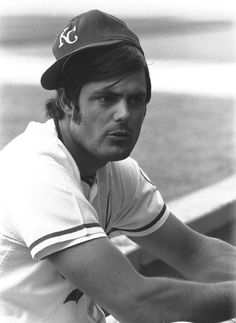Lou Piniella hangs out before a 1972 Royals-Braves game