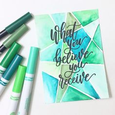 Still pic from previous half-finished video 🤣 Calligraphy Quotes Doodles, Brush Lettering Quotes, Doodle Quotes, Watercolor Lettering, Hand Lettering Quotes, Creative Lettering, Calligraphy Art, Doodle Art, Chalk Typography