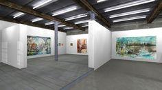 "Virtual 3D Online Exhibition ""Herdentiere"" by Rene Mattis , via Behance"