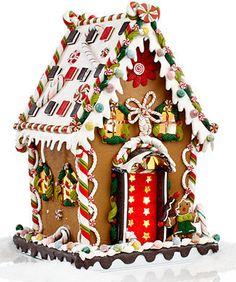 "Kurt Adler 13"" Pre-Lit Christmas Gingerbread House on shopstyle.com"