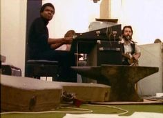 23rd January 1969. John and Paul with Billy Preston at Apple Studios in Saville Row.