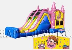 Princess Double Lane Jump & Slide