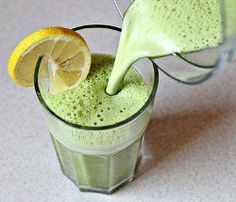 Detox Smoothie   Start the week right with a healthy detox smoothie. It might be bright green, but it's actually delicious!