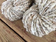 kid mohair locks and more 120 grams Handspun yarn merino silk