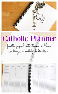 (Now on sale for 30% off!) Finally! The perfect Catholic planner to get me organized to live the liturgical year (not to mention balance all my other duties). Two affordable options: monthly ($25) and weekly ($28).
