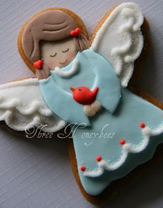 Gingerbread Angel Gingerbread Angel The post Gingerbread Angel appeared first on Gastronomy and Culinary. Cute Christmas Cookies, Iced Cookies, Royal Icing Cookies, Holiday Cookies, Christmas Treats, Christmas Baking, Fancy Cookies, Cute Cookies, Cupcake Cookies
