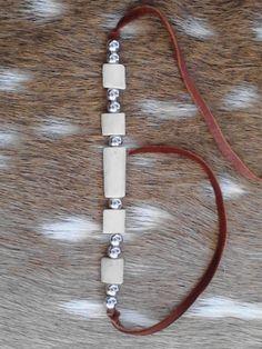 Handmade Unisex Coyote Bone Bracelet - handmade bone beads - Native American - Elusive Wolf