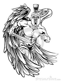 spartan-helmet-angel-illustration-warrior-character-sports-mascot-trojan-style-holding-sword-47075825.jpg (340×450)