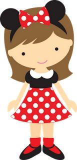 Cantinho Encantado: Bonequinhas Disney Clipart, Girl Clipart, Cute Clipart, Cute Images, Cute Pictures, Theme Noel, Mickey Minnie Mouse, Disney Art, Felt Crafts