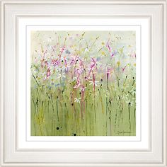 Buy Sue Fenlon - Daisy Meadow Framed Print, 68 x from our Pictures range at John Lewis & Partners. Wild Flower Meadow, Wild Flowers, Green Backgrounds, Natural Texture, All Pictures, Love Art, Giclee Print, Picture Frames, Daisy
