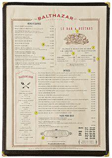 A Designers Notebook: Resturant Menu Design