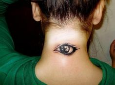 eye tattoo design on neck #neck #tattoo #women #female