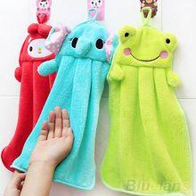 Mão dos desenhos animados toalha macia Plush tecido Animal enforcamento limpar berçário toalha de banho 58ZW(China (Mainland))