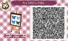 Les qr codes papiers peints : - Animal Crossing New Leaf