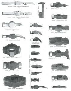 https://s-media-cache-ak0.pinimg.com/originals/98/03/7f/98037fbfa4d9da81ff4b254db10ba32b.png Forging Tools, Forging Metal, Ferreiro, Woodworking Organization, Woodworking Tools, Carpentry Tools, Blacksmith Projects, Blacksmith Forge, Cool Tools