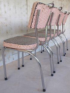 1950s Retro Pink Laminex Kitchen Chairs by lainheath, via Flickr