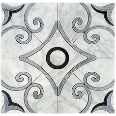Stone Mosaic Tile, Marble Tiles, Mosaic Tiles, Wall Tiles, Glass Tiles, Tiling, Carrara, Shower Floor, Tile Floor