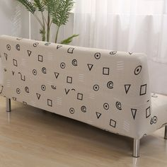 21.5USD Geometric Pattern Sofa Bed Covers Anti-dirty Furniture Slipcovers Universal Armless Couch Sofa Covers Home Decoration Covering