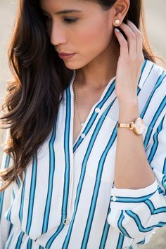Dainty Gold Jewelry - Visit Stylishlyme.com for more outfit inspiration and style tips