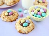 Coconut Macaroon Nutella Cookie Nests   Cookie Nest Recipe   Two Peas & Their Pod
