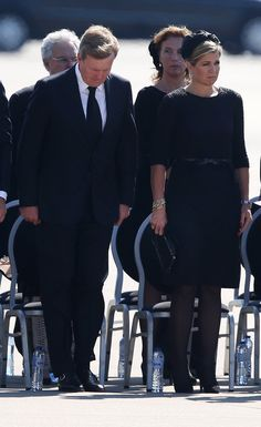 Queen Maxima Photos: Bodies of The MH17 Plane Crash Victims Repatriated