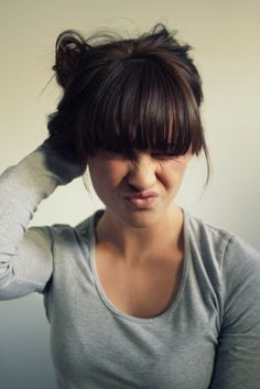 I want my bangs cut like this! Idk if I could do it tho