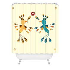 Gabriela Larios Tortolitas Couple Shower Curtain | DENY Designs Home Accessories