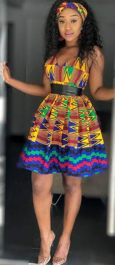 Kente dress with head wrap rocked by efia odo, African fashion, Ankara, kitenge, African women. African Fashion Designers, African Fashion Ankara, Ghanaian Fashion, Latest African Fashion Dresses, African Dresses For Women, African Print Dresses, African Print Fashion, African Attire, African Wear