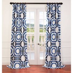 The brown and white printed pattern of this stunning Mecca curtain panel will make a splendid addition to your home decor. This curtain is made of cotton, features a weighted hem and has a shade-enhancing lining.