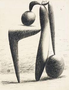 Pablo Picasso 1881 - 1973 DESSIN - CARNET DINARD, PAGE 1 (BAIGNEUSE. PROJET POUR UN MONUMENT)