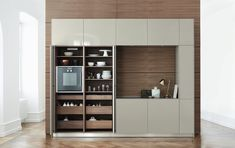 Bulthaup Rotary Sliding Door Cabinet Bulthaup Stylepark throughout size 1410 X 971 Bulthaup Kitchen Pocket Door - The largest advantage, definitely, Bathroom Interior, Kitchen Interior, Kitchen Tall Units, Kitchen Unit, Kitchen Ideas, Modern Kitchen Furniture, Kitchen Modern, Kitchen Cabinet Storage, Kitchen Cabinets
