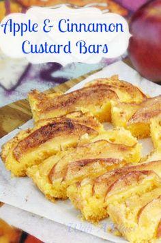 Apple and Cinnamon Custard Bars Recipe on Yummly. @yummly #recipe