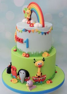 I made this for a customer this week, based on BABY TV Baby Birthday Themes, Birthday Treats, Baby First Birthday, Birthday Cake, Baby Tv Cake, Baby Girl Cakes, Fondant Cake Toppers, Cupcake Cakes, Baby Event