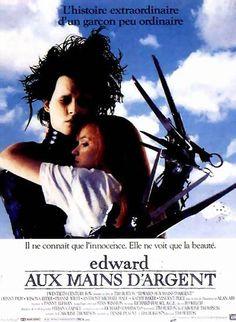 Edward aux mains d'argent (Edward Scissorhands) est un film de Tim Burton de 1990 avec Johnny Depp, Winona Ryder. Synopsis : Edward Scissorhands n'est pas un garçon ordinaire. Création d'un inventeur, il a reçu un cœur pour aimer, un cerveau pour comprendre. Mais son concepteur est mort avant d'avoir pu terminer son œuvre et Edward se retrouve avec des lames de métal et des instruments tranchants en guise de doigts.
