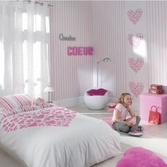 papierpeint9 papier peint chambre b b fille. Black Bedroom Furniture Sets. Home Design Ideas