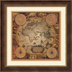 Amanti Art 'Cartographica 1' by Max Besjana Framed Graphic Art