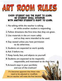 ART CLASS RULES