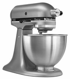 {Quick and Easy Gift Ideas from the USA}  KitchenAid Classic Plus Series 4.5 Qt. Tilt-Head Stand Mixer - Silver http://welikedthis.com/kitchenaid-classic-plus-series-4-5-qt-tilt-head-stand-mixer-silver #gifts #giftideas #welikedthisusa