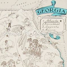 Georgia  Vintage Map