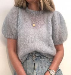 Knitting Kits, Sweater Knitting Patterns, Knit Fashion, Fashion Outfits, Mohair Sweater, Sweater Shop, Fall Sweaters, Diy Clothes, Summer Clothes