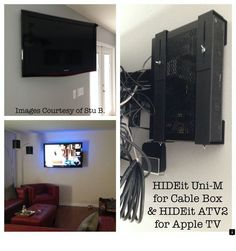 Wall Mount For Cable Box Or Directv Receiver Behind Tv