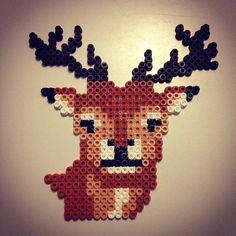 Deer hama beads by justmeandco