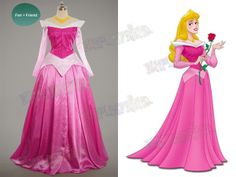 Disney Sleeping Beauty Cosplay Princess Aurora Costume Outfit