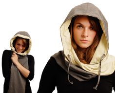 Napper – Sleeping In Public Hooded Shawl With Earphones and Bluetooth by Simone Wittmann » Yanko Design