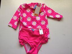 JOE Fresh toddler girls 2 PC swiming suit PINK NEW SZ 12-18 mos #JOEFRESH #Swimsuit