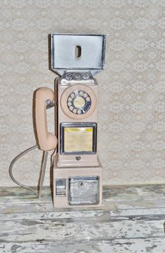 American Electric 3 Slot Payphone Chrome by AsTimeGoesByVintage